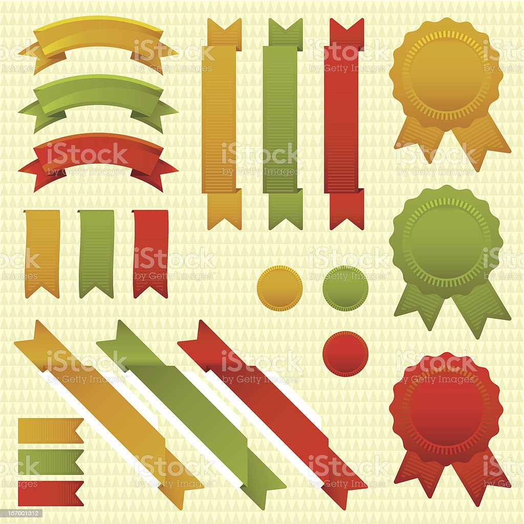 Tricolor ribbons royalty-free stock vector art