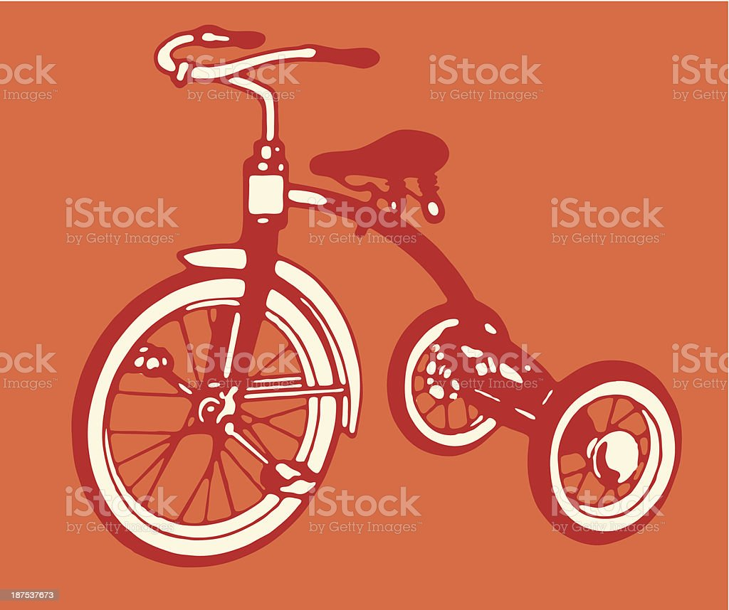 Tricycle vector art illustration