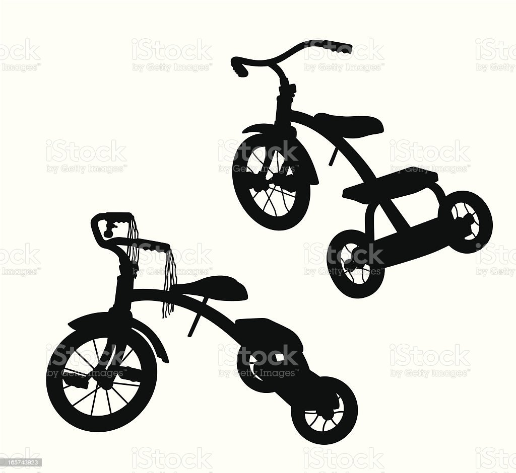 Tricycle Vector Silhouette vector art illustration