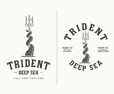 Trident deep sea illustration