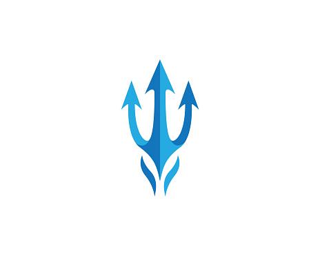 Trident vector icon illustration