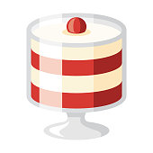 istock Trifle Icon on Transparent Background 1282383631