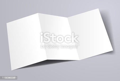 blank A4 trifold brochure template