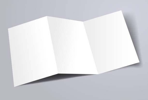 trifold A4 brochure template blank A4 trifold brochure template brochure templates stock illustrations