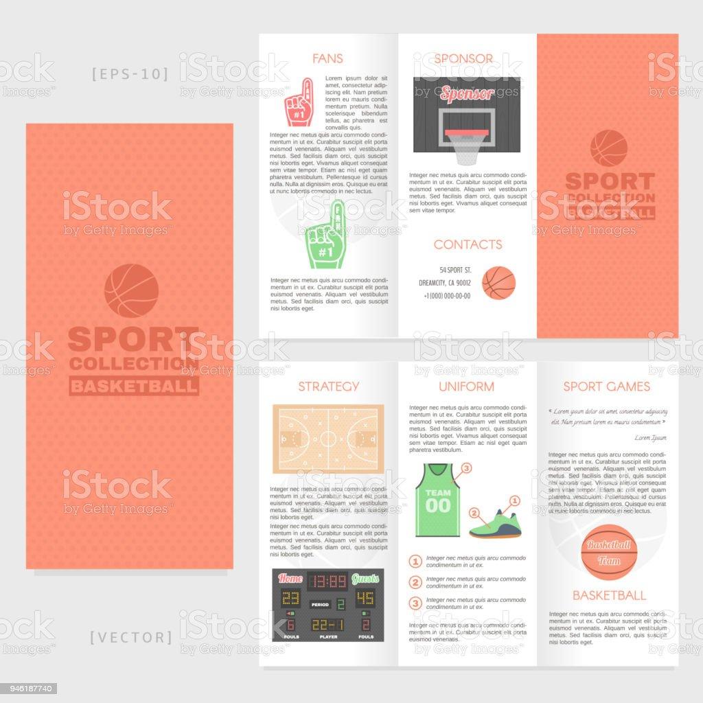 Trifold Basketball Broschüre Vorlage Gut Für Werbe Und ...
