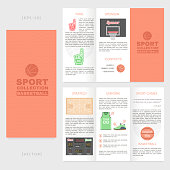Sports brochure. Creative template for printing.
