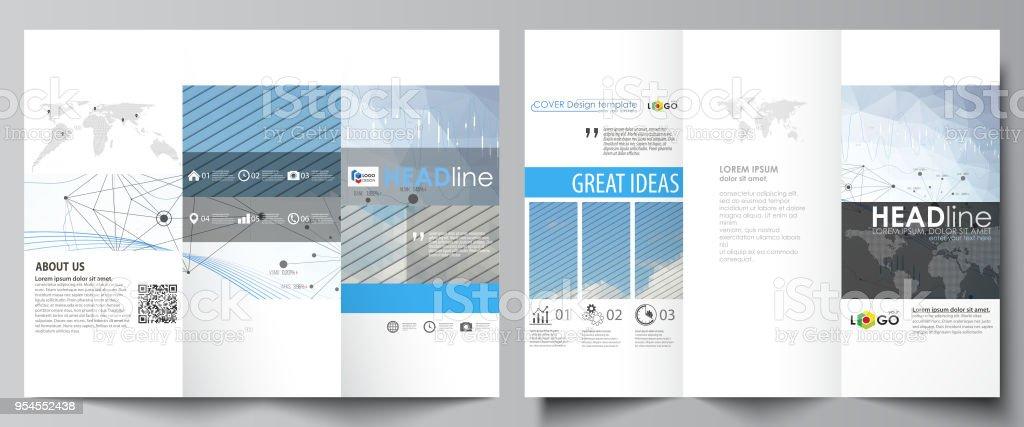 Trifold Brochure Business Templates Easy Editable Vector