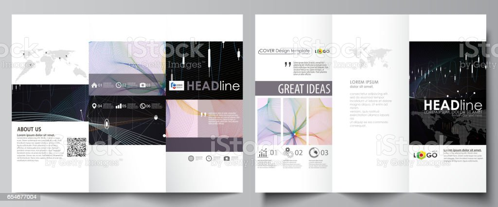 trifold brochure business templates easy editable vector layout