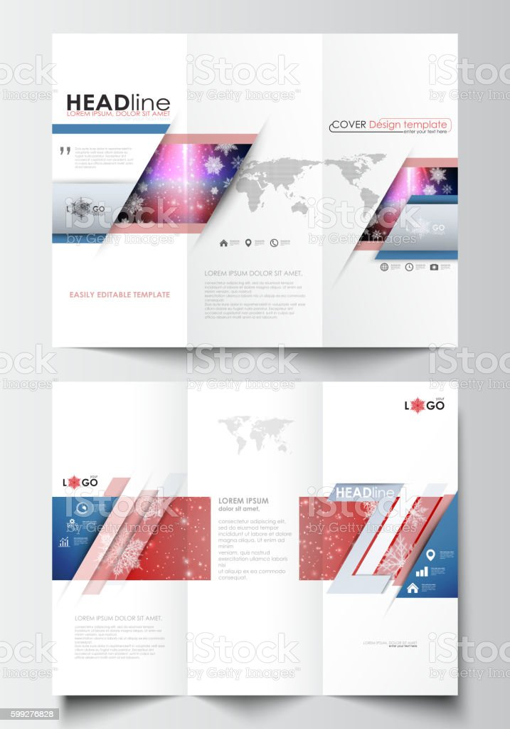 trifold brochure business templates on both sides easy editable