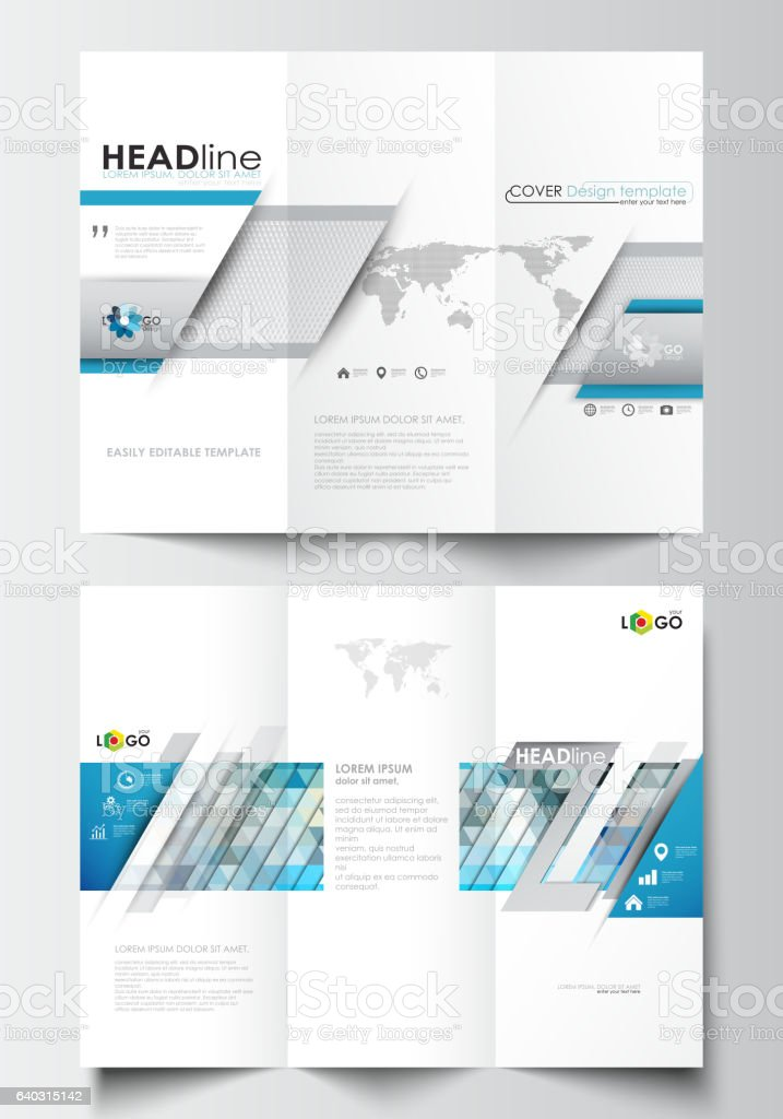 Trifold Brochure Business Templates On Both Sides Easy Editable - Easy brochure template