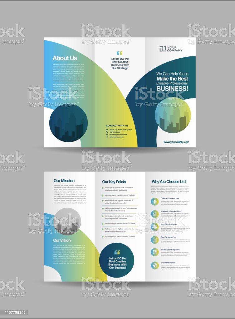 Tri-Fold Brochure Design, 3 Folded Brochure template, Business Advert...