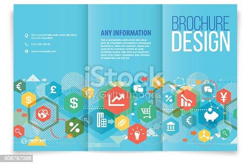 istock Tri-fold brochure design on business 506767098
