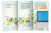 Tri fold brochure design on Multimedia.