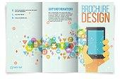 Tri fold brochure design on business.