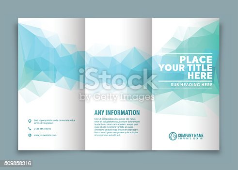 istock Tri-fold brochure design . 509858316