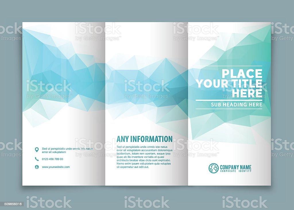 Tri veces folleto de diseño. - ilustración de arte vectorial