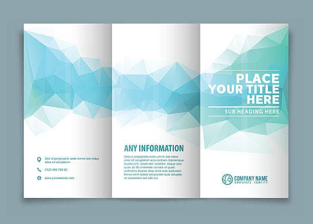 tri-fold brochure design . - brochure templates stock illustrations, clip art, cartoons, & icons