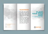 Tri-fold brochure design with copy space .
