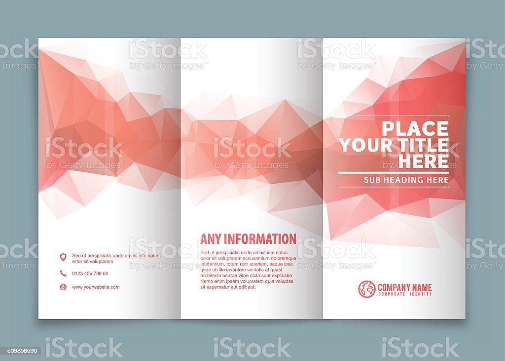 Tri-fold brochure design . vector art illustration