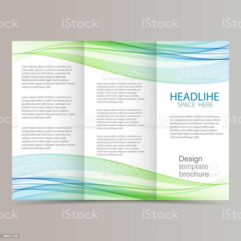 trifold brochure design vector art illustration