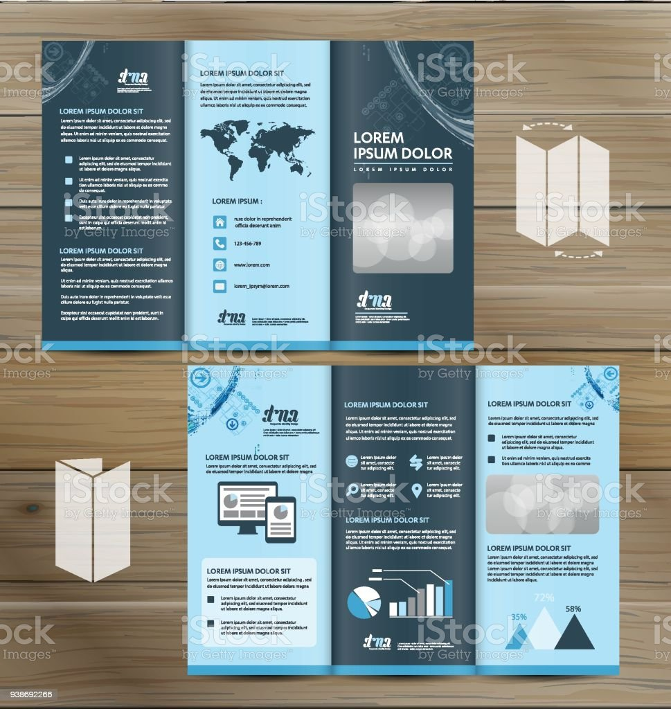 trifold brochure mockup realistic rendering of trifold brochure