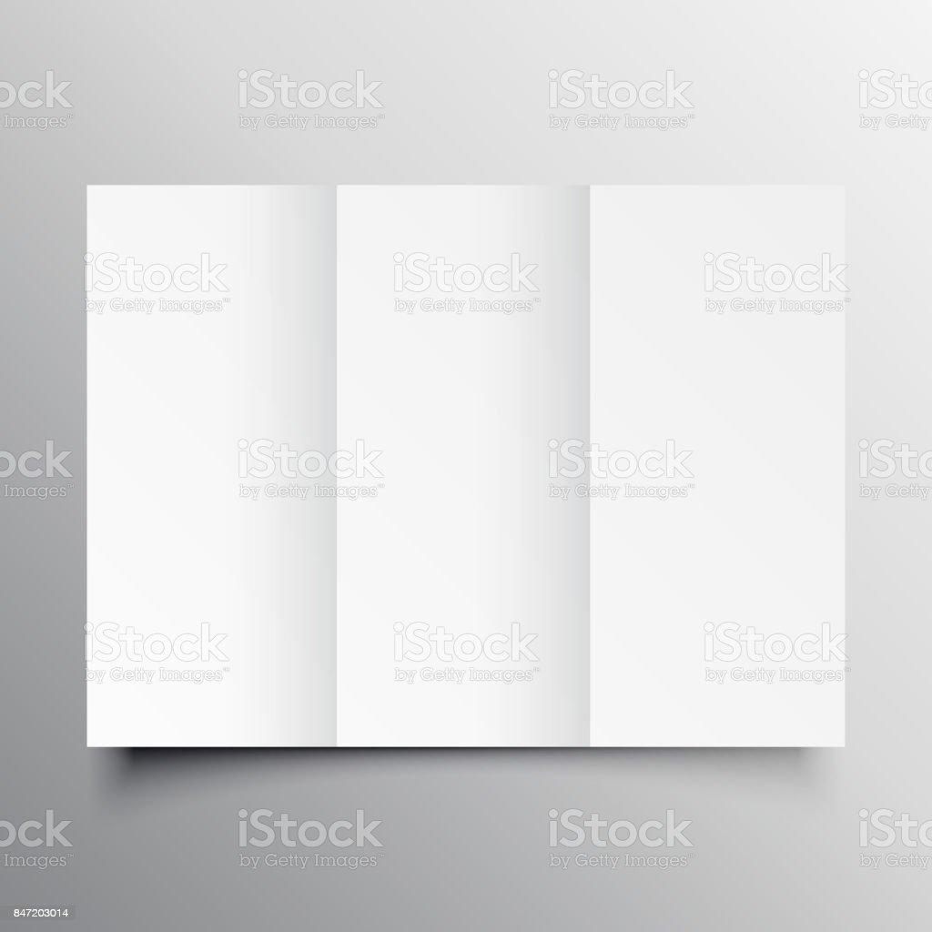 Trifold Brochure Mockup Template Stock Vector Art More Images Of - Brochure mockup template