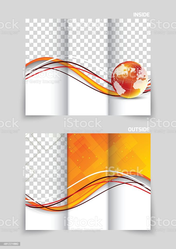 trifold brochure template design stock vector art more images of