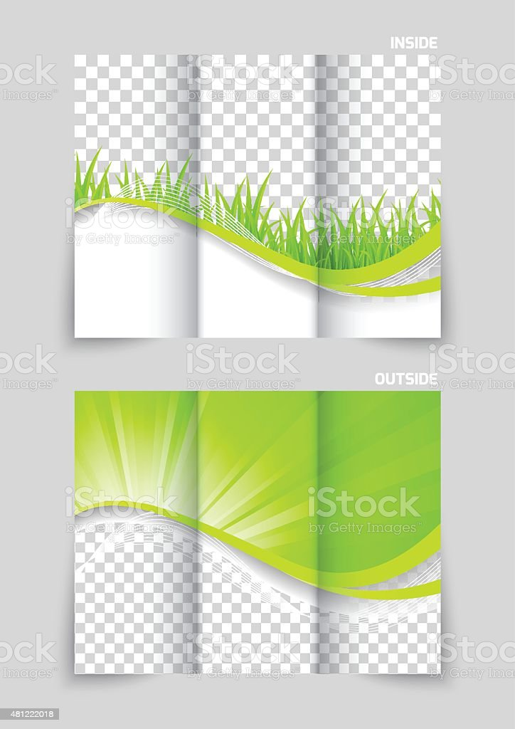 environment pollution poster wave pattern 2015 tri fold brochure template