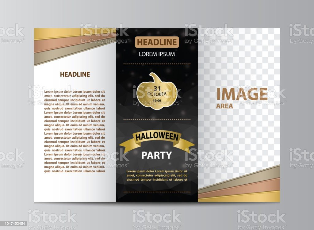 Trifold Brochure Template For Halloween Party Stock Vector Art
