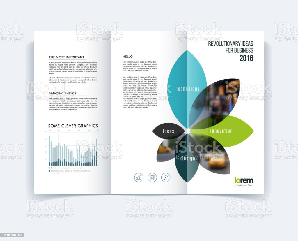 Trifold Brochure Template Layout Cover Design Flyer In A Stock - Tri fold brochures templates