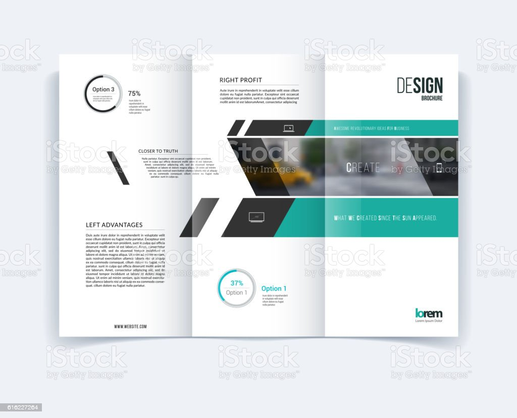 Trifold Brochure Template Layout Cover Design Flyer In A15 Stock Vektor Art  und mehr Bilder von Abstrakt