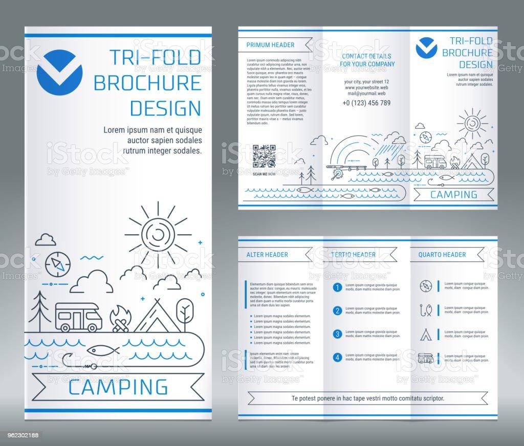 Trifold Broschüre Vorlage Zum Thema Freizeit Und Tourismus Stock ...