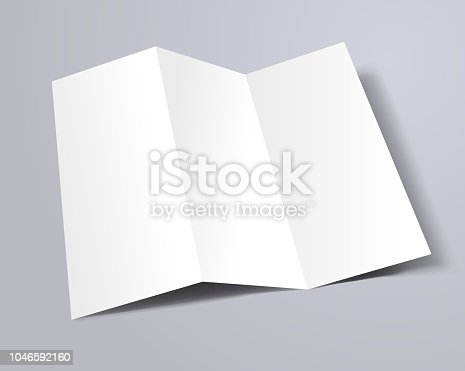 trifold brochure template mockup