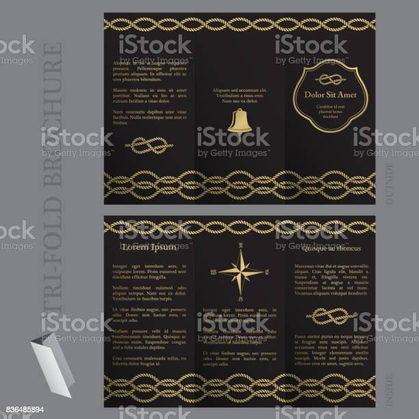 Trifold brochure template with nautical elements vector id836485894?b=1&k=6&m=836485894&s=612x612&h=9db3y2rvr ykxgfsrlpjbppth39xiibhupzf vpo7nm=