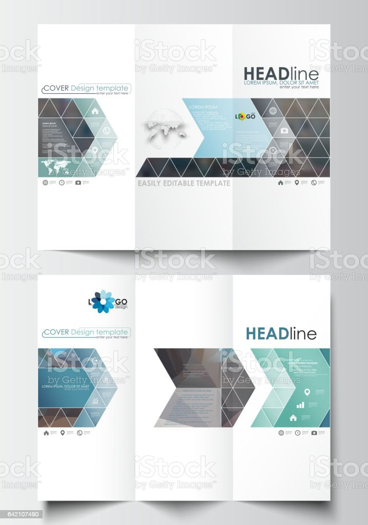 Trifold Brochure Templates On Both Sides Easy Editable Layout In