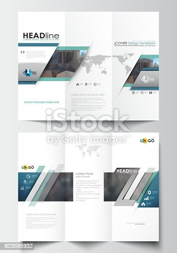 trifold brochure templates on both sides easy editable layout