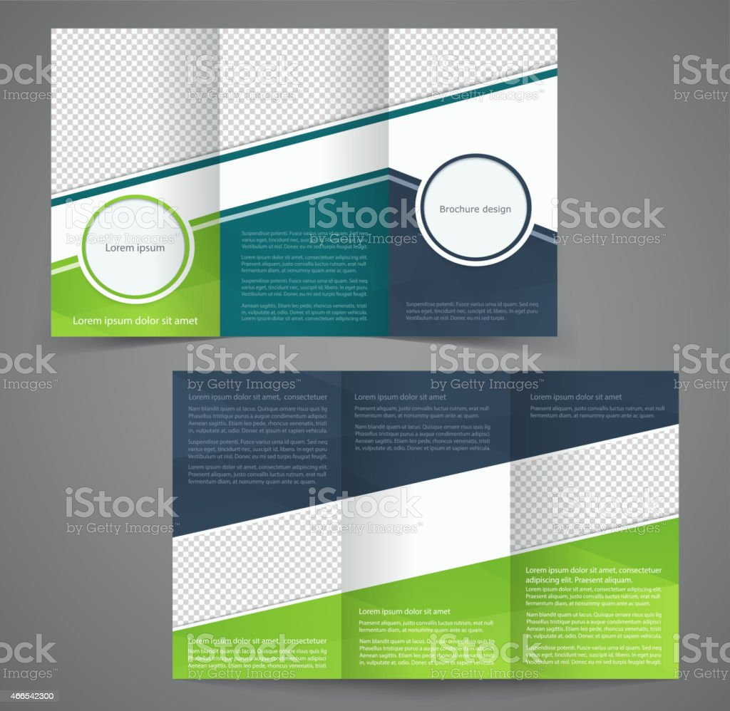 Trifold business brochure template doublesided design for Double sided brochure template