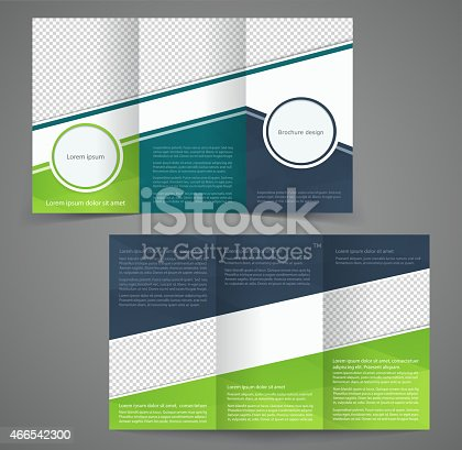 Trifold Business Brochure Template Doublesided Design Stock Vector