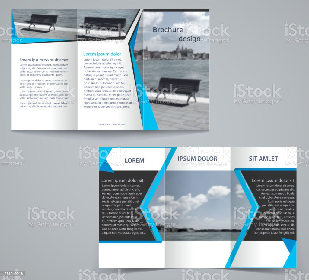Trifold Business Brochure Template Stock Illustration - Download Image Now