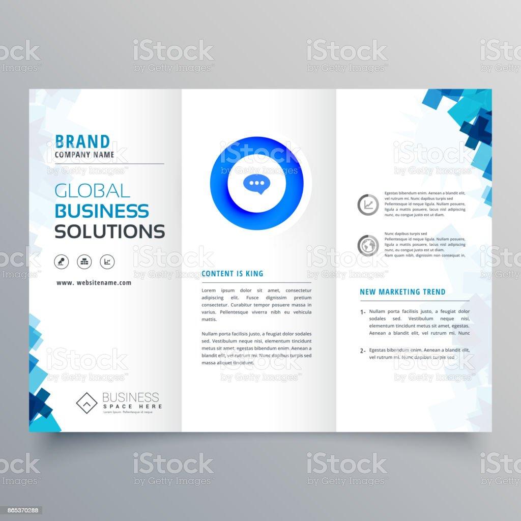 trifold business brochure vector design template vector art illustration