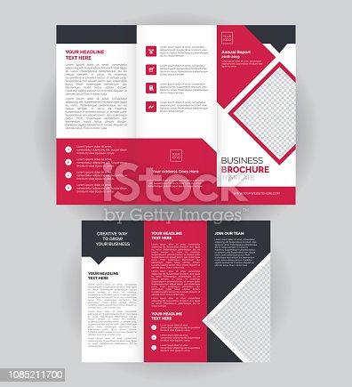 istock Tri-Fold Corporate Brochure, Flyer Design Layout Template 1085211700