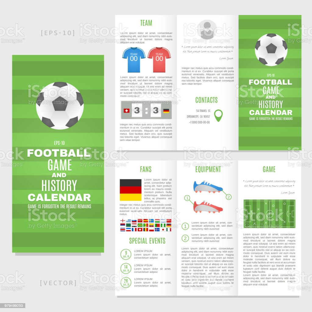Trifold Football Brochure Template Good For Advertising And