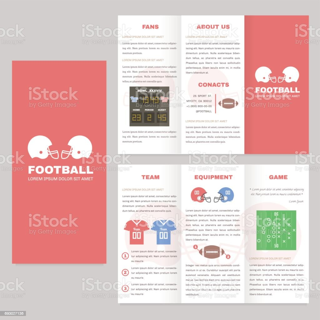Trifold sport brochure template good for advertising and for Nice brochure templates