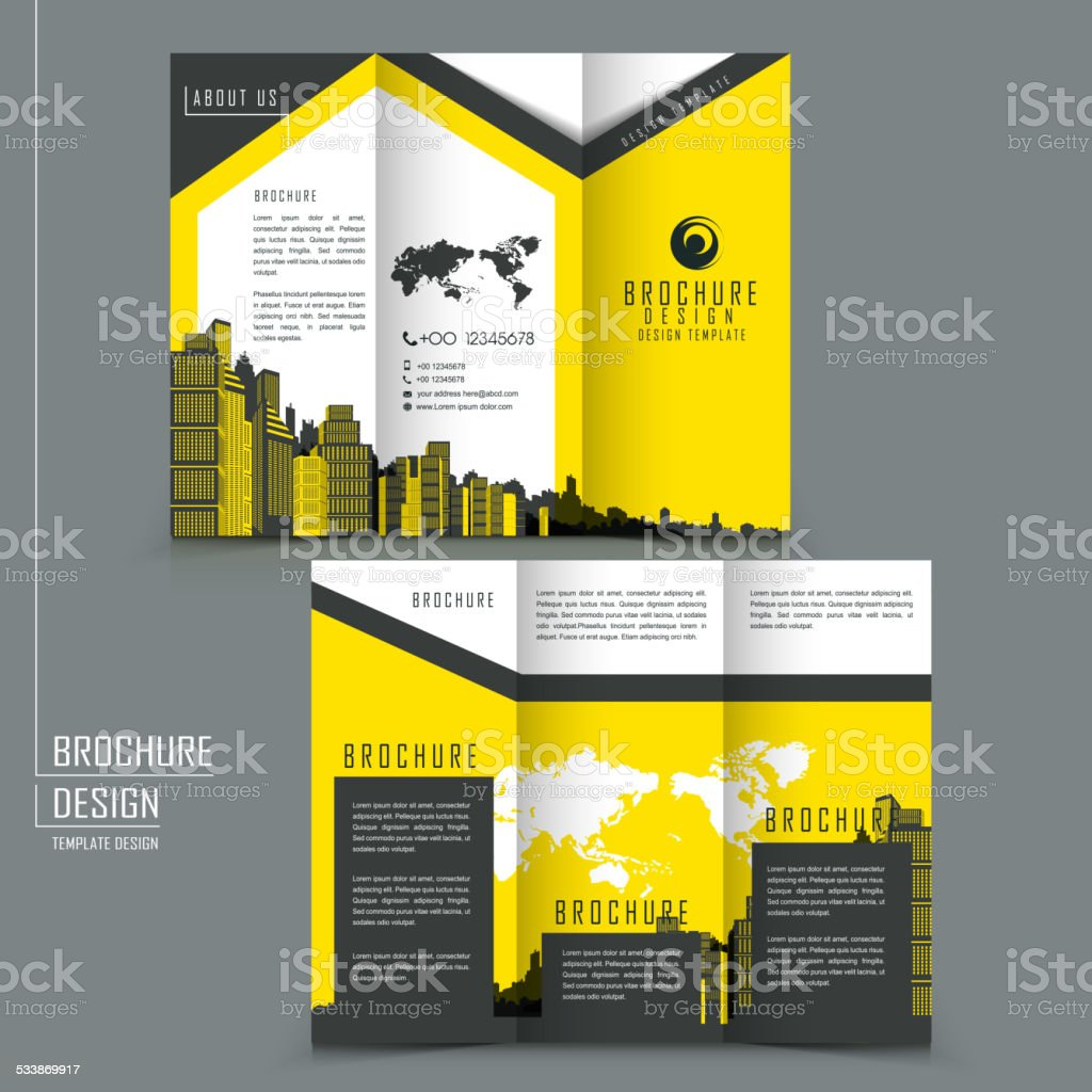 trifold template brochure for business advertising stock vector art
