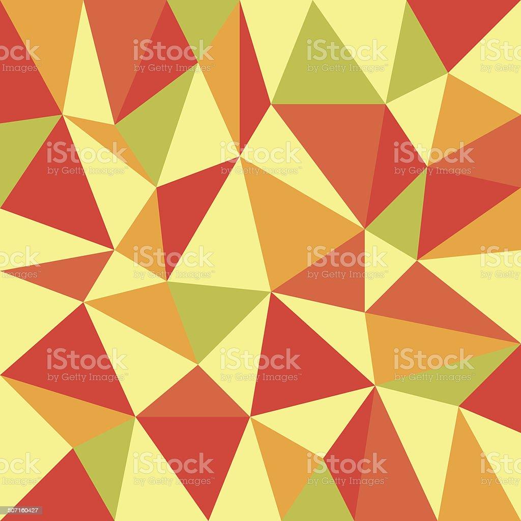 trigangular retro autumn background vector art illustration
