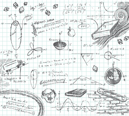 Trigonometry Math Class doodle
