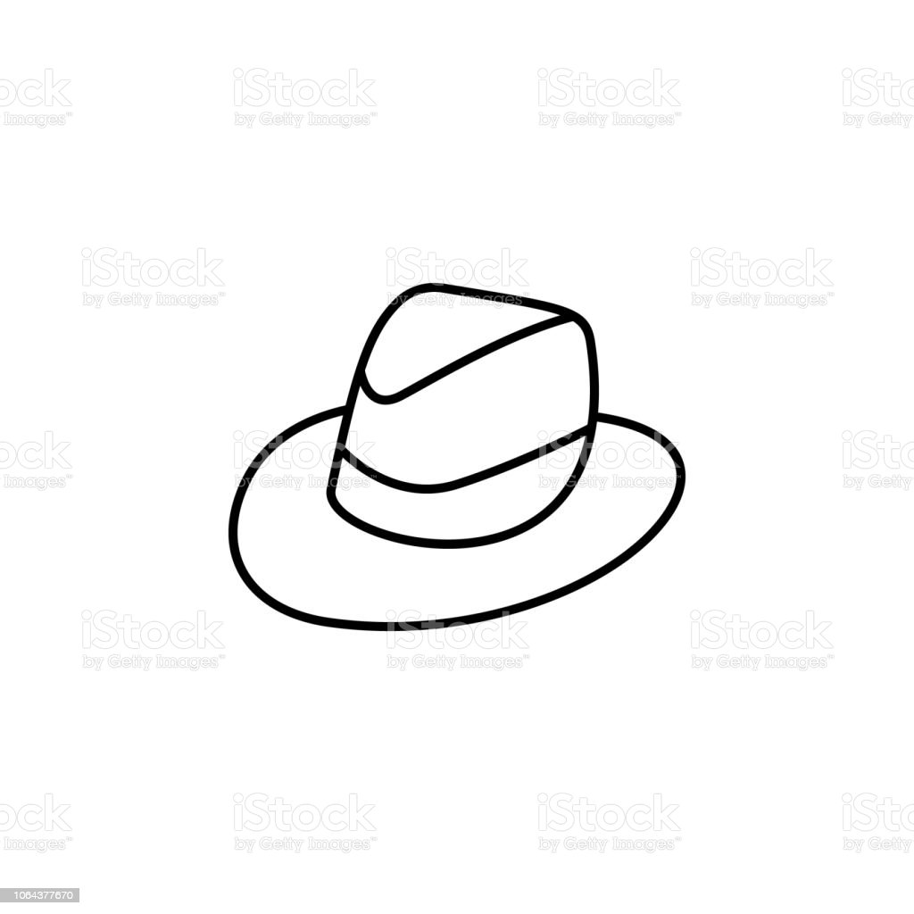 0f7f8698793 trilby hat icon. Element of hat icon for mobile concept and web apps. Thin