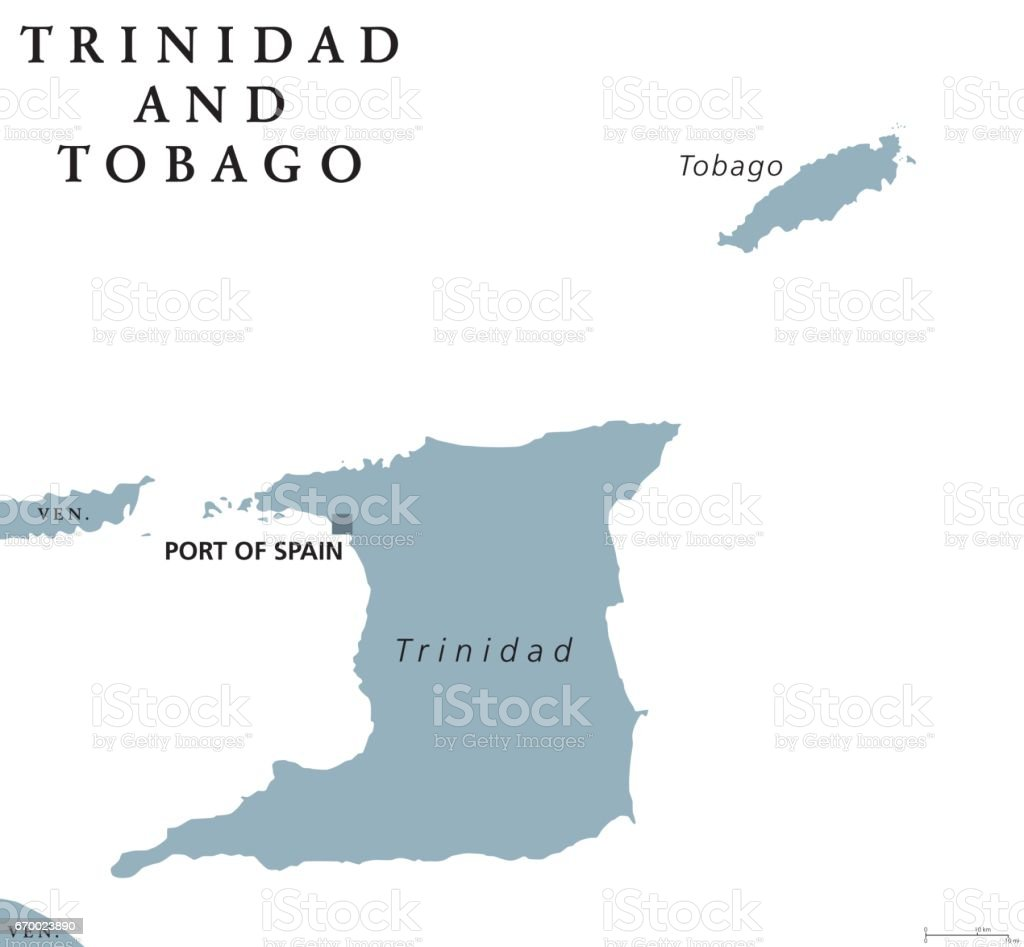 Picture of: Trinidad And Tobago Political Map Stock Illustration Download Image Now Istock