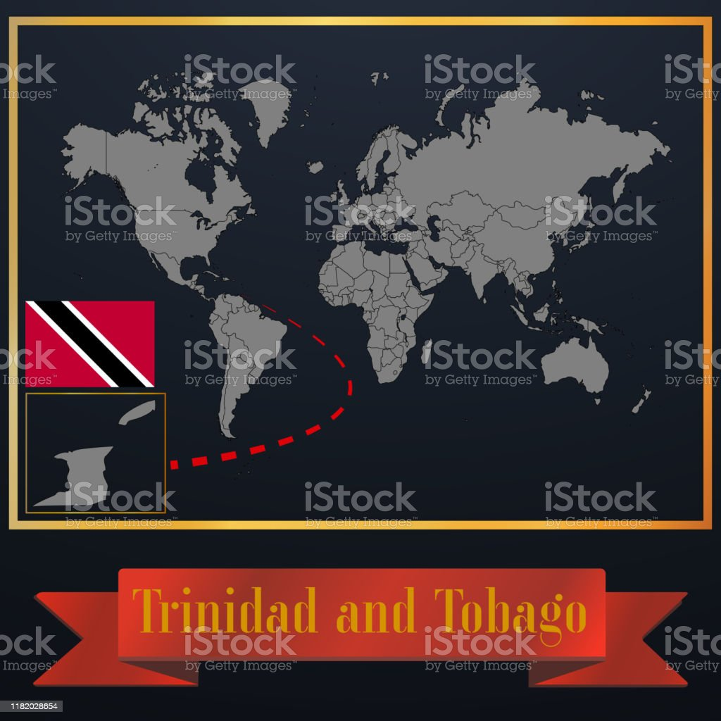 Trinidad And Tobago Solid Country Outline Silhouette Realistic Globe World Map Template Atlas For Infographic Vector Illustration Isolated Object Background National Flag Countries Set Stock Illustration Download Image Now Istock