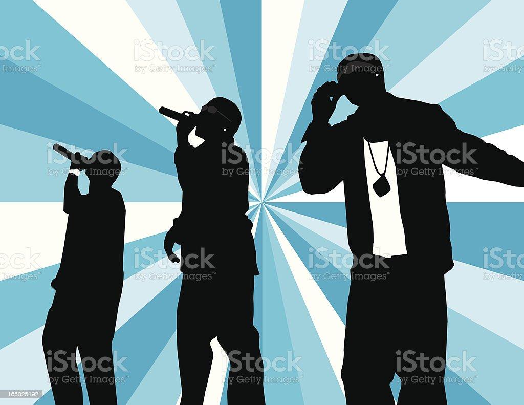 R&B Trio royalty-free stock vector art